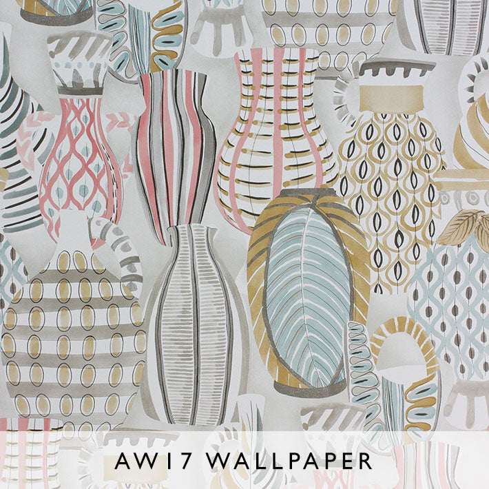Nina Campbell Wallpaper Collioure in multicolor Les Reves Collection Janine Kuala Lumpur Malaysia