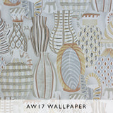 Nina Campbell Wallpaper Collioure in taupe hues Les Reves Collection Janine Kuala Lumpur Malaysia