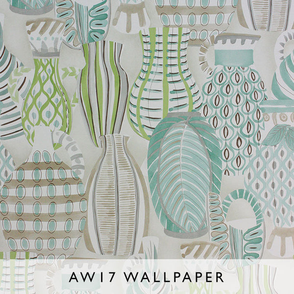 Nina Campbell Wallpaper Collioure in green hues Les Reves Collection Janine Kuala Lumpur Malaysia