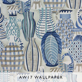 Nina Campbell Wallpaper Collioure in blue hues Les Reves Collection Janine Kuala Lumpur Malaysia