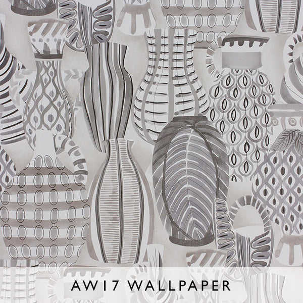 Nina Campbell Wallpaper Collioure in Slate Grey Les Reves Collection Janine Kuala Lumpur Malaysia