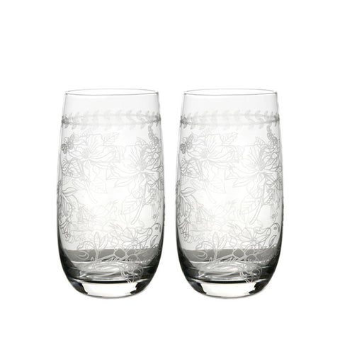Botanic Garden Crystal Highballs (Set of 4)