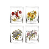 Botanic Garden Old Fashioned Glass Painted Tumbler Set
