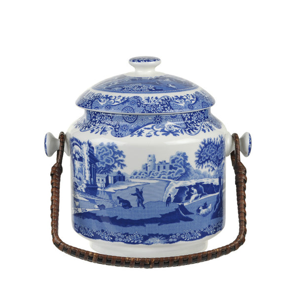 Blue Italian 200th Anniversary Biscuit Barrel | Spode