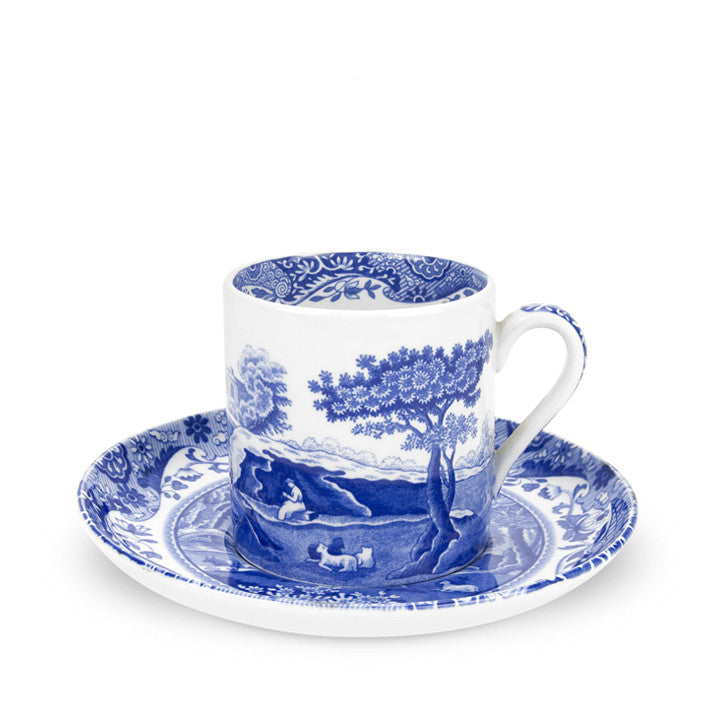 Blue Italian Coffee Cup & Saucer Set | Spode