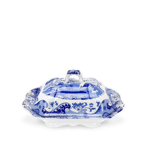 Blue Italian Covered Vegetable Dish