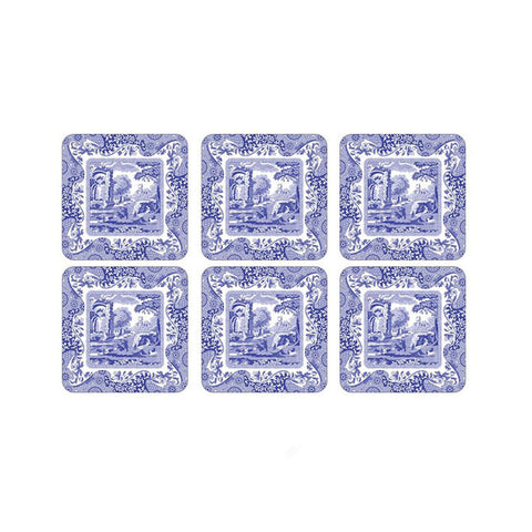 Pimpernel Blue Italian Coasters Set of 6