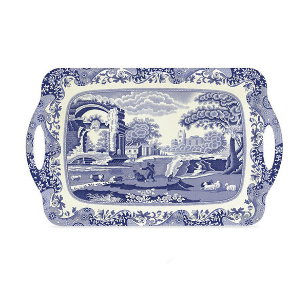 Pimpernel Blue Italian Large Tray