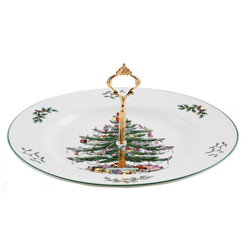 Spode Christmas 27 CM Tree Single Handled Server