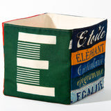 "Alphabet fabric Box letter ""E"""
