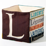 "Alphabet fabric Box letter ""L"""