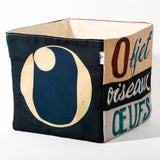 Alphabet fabric Box letter O
