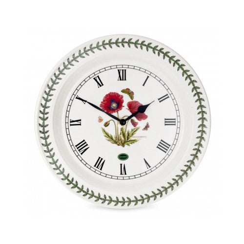 Botanic Garden Wall Clock Poppy
