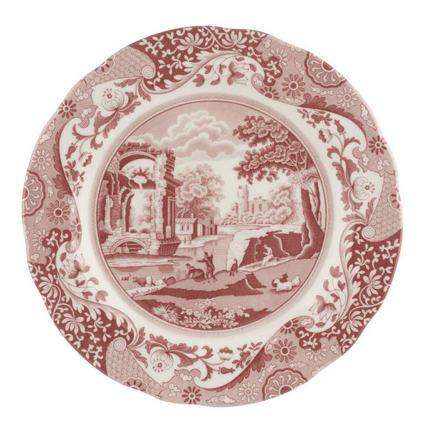 Spode Cranberry Italian Dinner Plate 10.5 Inch