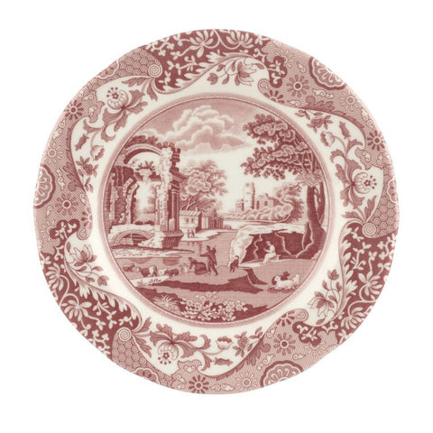 Spode Cranberry Italian 8 Inch Side Plate