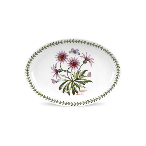 "Botanic Garden Oval Platter 11"" Treasure Flower 