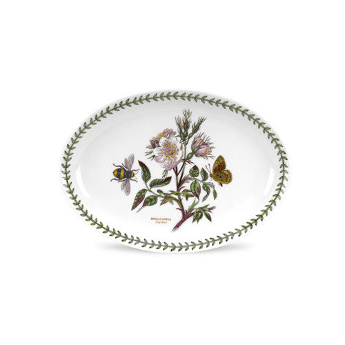 "Botanic Garden Oval Platter 11"" Dog Rose 
