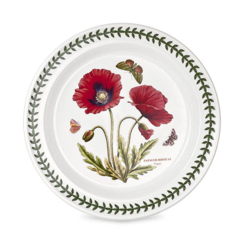 Botanic Garden Poppy Dinner Plate Poppy in 8inch and 10inch | Portmeirion