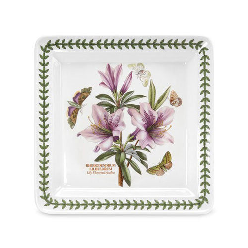 Portmeirion Botanic Garden Square Dinner Plate Lily Flowered Azalea