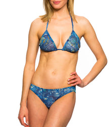 Azure Tan Through Bikini Top & Brief Set