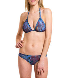 Blue Amalfi Tan Through Bikini Top & Brief Set