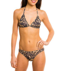 Luanda Tan Through Bikini Top & Brief Set