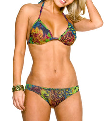 Amalfi Tan Through Bikini Top & Brief Set