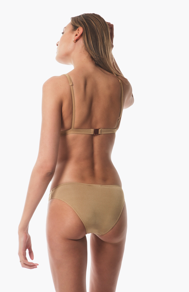 Bad Love Bikini Bottom in Gold