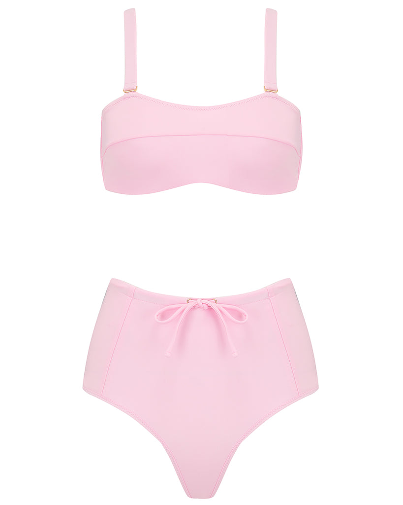 Kit Bikini Top in Cotton Candy