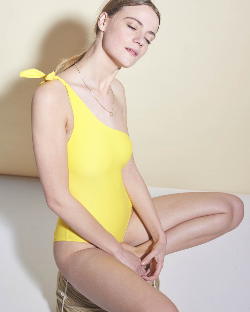 White Horse One Piece in Sunflower Final Sale