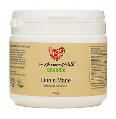 ORGANIC  Lion's Mane Powder - 250g