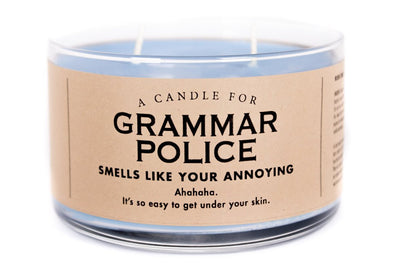 A Candle for Grammar Police