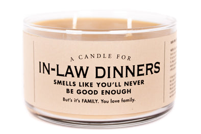 A Candle for In-Law Dinners