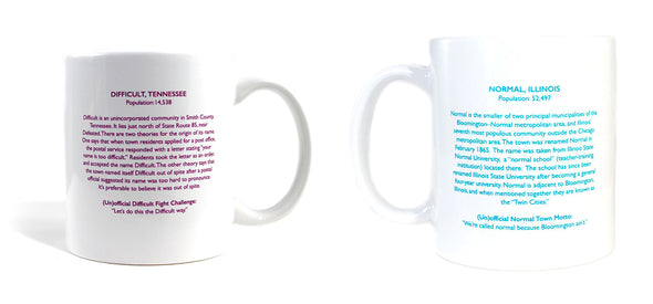 Imaginary Road Trips Fake-Cation Mug Set - Difficult/Normal
