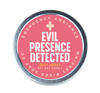 Evil Presence Detected Emergency Ambiance Travel Tin - NEW!