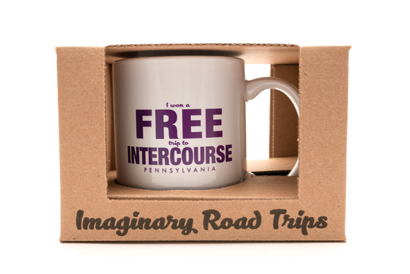 Imaginary Road Trips Fake-Cation Mug - Free Intercourse
