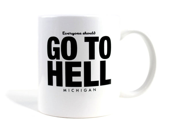 Imaginary Road Trips Fake-Cation Mug - Go To Hell