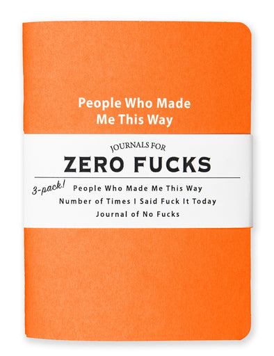 Journals for Zero Fucks