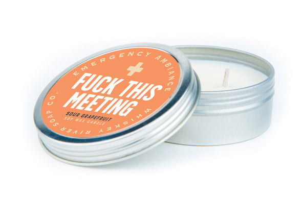 Fuck This Meeting Emergency Ambiance Travel Tin - NEW!