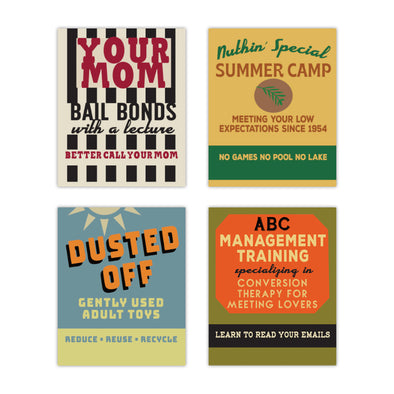 Old School Matchbooks Variety Pack: Your Mom