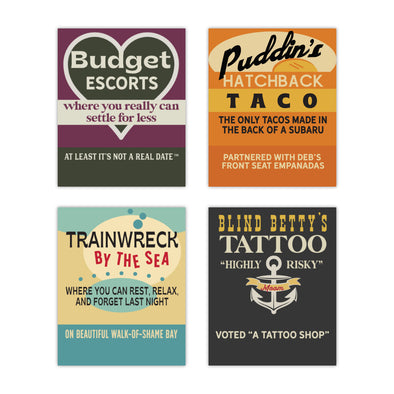 Old School Matchbooks Variety Pack: Budget Escorts