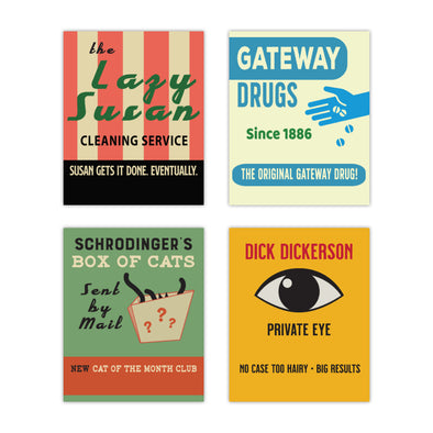 Old School Matchbooks Variety Pack: Lazy Susan