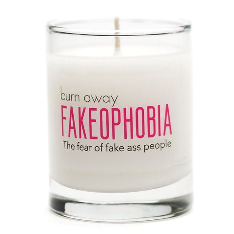 Burn Away Fakeophobia Candle - NEW