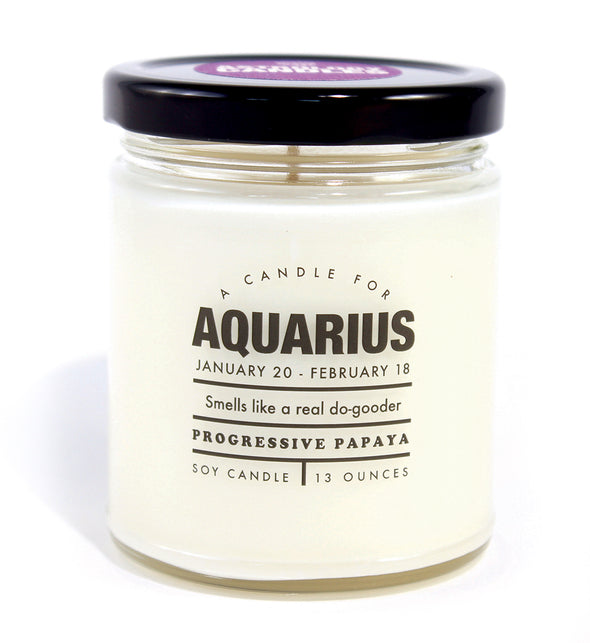 Astrology Candle Aquarius