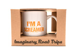 Imaginary Road Trips Fake-Cation Mug Set - I'm a Screamer