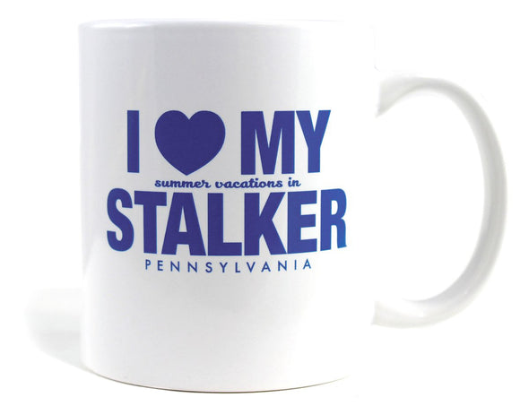 Imaginary Road Trips Fake-Cation Mug - I Heart My Stalker