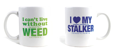 Imaginary Road Trips Fake-Cation Mug Set - Weed/Stalker