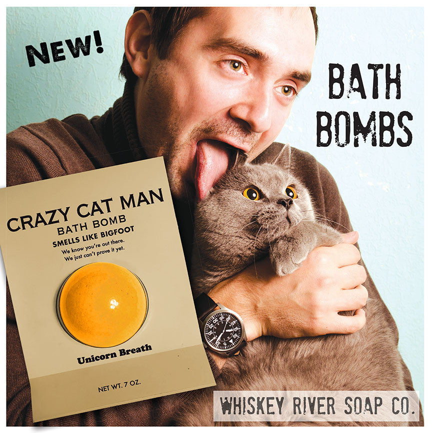 a bathbomb for crazy cat man whiskey river soap co. Black Bedroom Furniture Sets. Home Design Ideas