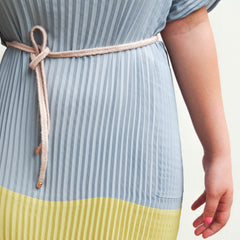 braided belt soft pink - renske versluijs