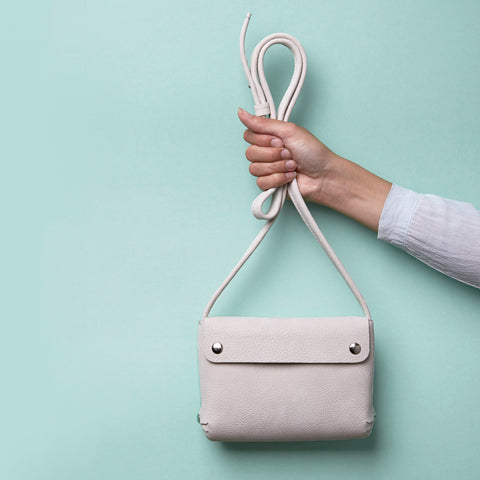 leather handbag sand - renskeversluijs